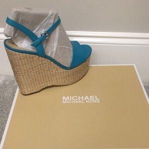Brand New Never Worn Michael Kors Wedge Sandals